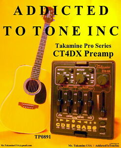 Takamine CT4 DX Dual Parametric Preamp / Authorized Dealer / NEW With Warranty