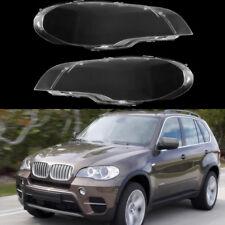 For BMW X5 E70 2008-13 Headlight Lens Lamp Cover Headlamp Shade Right/Left Pair