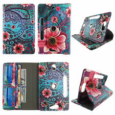 "Cover for 8 inch tablet case universal 8""cases rotating stand cash card slots"