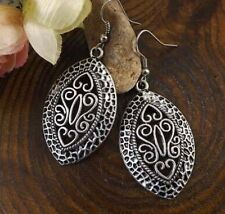 Bohemia Vintage Tibetan Silver Retro Drop Dangle Hook Earrings Women's Jewelry