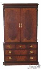 45878Ec: Henkel Harris Model #196 Figural Mahogany Armoire Wardrobe