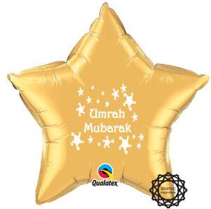 "UMRWHT Umrah Mubarak Foil Balloon 20"""
