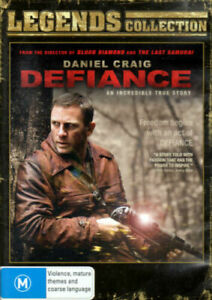 DEFIANCE DVD DANIEL CRAIG LEGENDS COLL. REGION 4 AUSTRALIAN NEW AND SEALED