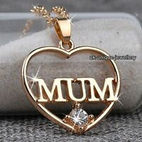 CHRISTMAS DEALS - Gold Heart MUM Necklace Mother Gifts For Her Mother Mom Women