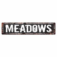 SLND0725 MEADOWS Street Chic Sign Home man cave Decor Gift Ideas