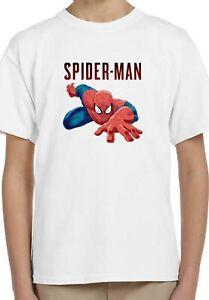 Spiderman Clipart Cartoon film Holiday Kids Unisex Top Birthday Gift T-Shirt 104