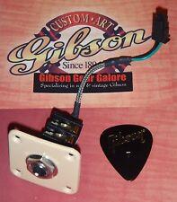 Gibson Les Paul Jack Input HP Guitar Parts Quick Connect Standard Plate Creme ES