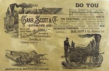 Gaar Scott & Co Threshing Machines Steam & Horse Power Saw Mills Nice! &C
