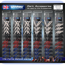 Winmau Shaft Pub Selection Dart Supplies on Card Super Mix Stems (60 Sets)