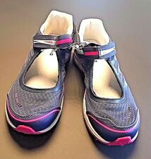 New Merrell Night Shadow Blue Pink Mary Janes Sneakers Kid's Girl's Youth Size 5