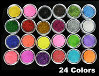 Body Glitter Face Fine Dust Pot Cosmetic Festival Dance Eye Nail 24 Colours