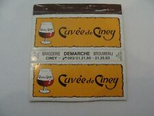 Boite allumettes - CUVEE DE CINEY - Bière - Brasserie DEMARCHE - Belgium - (256)