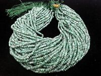"5 Strands Green Chalcedony Rondelle Faceted Gemstone Beads 4-4.5mm,13""Inch"