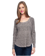 NWT $98 XS SPLENDID Marble Thermal Long Sleeve Top Sweatshirt Sweater Rosewater
