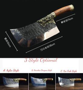 Meat Cleaver Chopping Chef Knife Kitchen knife Molybdenum-Vanadium Steel #5130