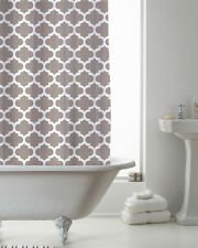 Country Club Shower Curtain 180x180 Moroccan Mink Modern Contemporary White