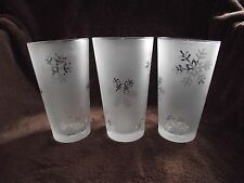 Set of 3 Nautica Arctic Snow 18 Oz Glassware Cooler Glasses