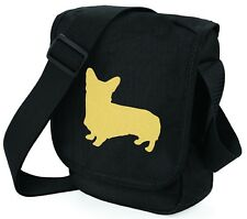 More details for corgi dog bag shoulder bags metallic gold dog black handbag mothers day gift