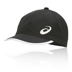 Asics Unisex Performance Running Cap Black Sports Breathable Lightweight