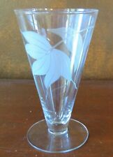 """McBride Cameo Frosted Leaf 6"""" Clear Footed Tumbler(s)"""