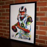 Jared Goff Los Angeles Rams QB Football Sports Poster Print Wall Art 18x24