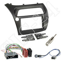 Honda Civic VIII Type R S ab2006 Doppel 2-DIN Blende+ISO Adapter Radioeinbau-Set