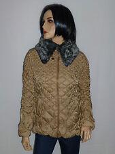 Modeszene Stepp Jacke Größe 38 Beige mit abnehmbaren kragen neu UVP 90€