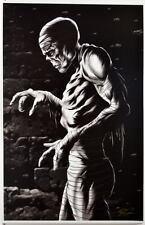 The MUMMY Print HAND SIGNED Artist Damon Bowie COA Universal Monster