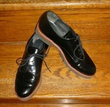 STUART WEITZMAN~METRO: Black Patent Leather Oxfords/Sz 9 M/Sleek, Chic & Superb