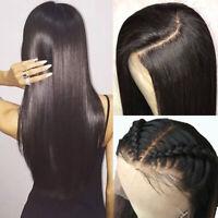 Silk Base Full Lace Straight Wig Virgin Peruvian Human Hair Natural Hairline ehd