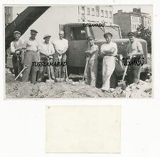 Berlin Firma Marienfelde Kfz Werbung Lkw Lastwagen Bauarbeiter