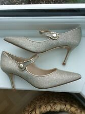 Lk Bennett Gold Lady Jane Shoes Size  6 New