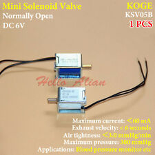 DC 6V Micro Electric Solenoid Valve Normally Open N/O Blood Pressure Monitor DIY