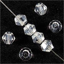 30 Perles Tchèques Toupies en Cristal 6mm cristal