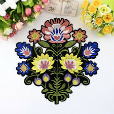 Embroidered Sew On Flower Patches Big Sun Flower Motif Applique Clothing Patches
