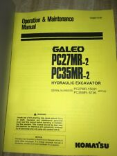 KOMATSU PC27MR-2  PC35MR-2 Hydraulic Excavator Operation Maintenance Manual book