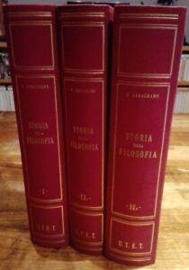 STORIA DELLA FILOSOFIA in tre Volumi Antica Contemporanea Abbagnano UTET 1961