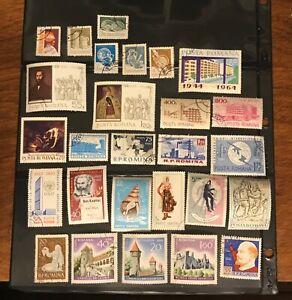 ROMANIA stamps 27 castles buildings art Lenin Marx