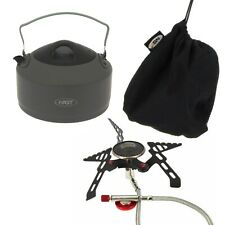 Fishing Stove and Kettle 1.1 Litre for Camping Hiking Travel Folding Handle
