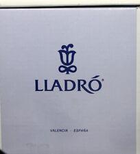 Lladro Snow Bell, Christmas Ornament, Blue Ribbon & Clapper
