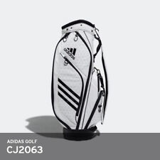 adidas Golf 2018 Light Weight 10lb Caddie Cart Bag 9in 5-way PU EMS / White