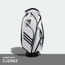 Adidas Golf 2018 Light Weight 10lb Caddie Cart Bag 9In 5-Way PU Free Ems / White