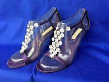 LORD & TAYLOR Leather Sole PURPLE DIAMOND RHINESTONE High Heels Women Shoes Sz 6