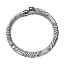 Stainless Steel Traditional Celtic Torque Bangle Large