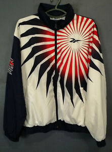 RARE VINTAGE OLD RETRO GREAT BRITIAN ATHLETIC OLYMPIC JACKET REEBOK VTG SIZE M/L