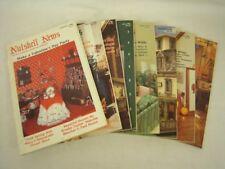 "Lot of 8 ""Nutshell News"" doll house items magazines - February to November 1986"