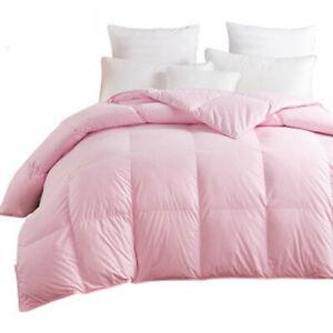 Goose/Duck Down Duvets Quilt Comforter 100% Cotton Cover King Queen Twin Full