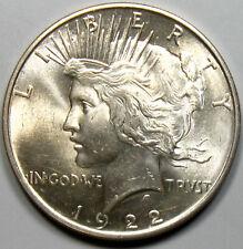 Uncirculated 1922 Peace Silver Dollar
