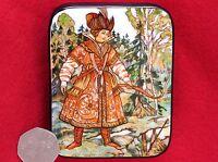 Rusa Laqueado Caja Bilibin Fairy Cuento Tsarevna Rana Princesa Pintada a Mano
