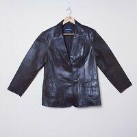 Expression Vintage Plus Size 18 Brown Genuine Leather Biker Jacket Coat